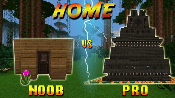 planet of cubes, noob, pro, survival, craft, home