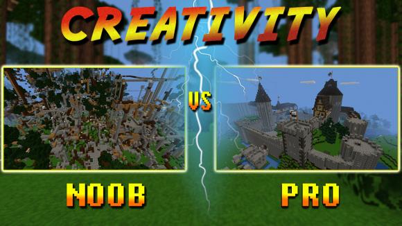 planet of cubes, noob, pro, survival, craft, creativity, building
