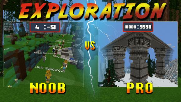 planet of cubes, noob, pro, survival, craft, exploration